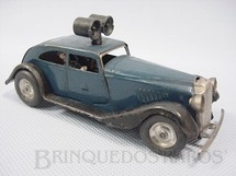 1. Brinquedos antigos - Tri Ang Minic - Carro Traffic Control Car com dois guardas de chumbo Minic 12,50 cm Década de 1940