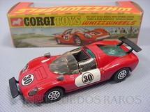 1. Brinquedos antigos - Corgi Toys - Ferrari 206 Dino Sport vermelha Ano 1970