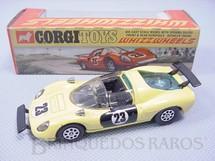 1. Brinquedos antigos - Corgi Toys - Ferrari 206 Dino Sport amarela Ano 1970