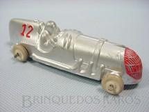 1. Brinquedos antigos - Hubley - Carro de Corrida com 14,00 cm de comprimento Década de 1940
