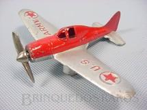 1. Brinquedos antigos - Hubley - Avião mono motor U.S. Army com 14,00 cm de envergadura Década de 1940