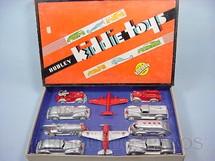 1. Brinquedos antigos - Hubley - Conjunto completo com quatro Carros quatro Caminhões e dois Aviões Série Kiddie Toys Década de 1940