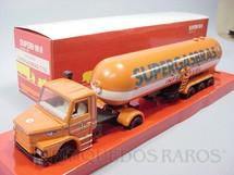1. Brinquedos antigos - Arpra - Cavalo Mecânico Scania Vabis 112H com Carreta Supergasbras Década de 1980