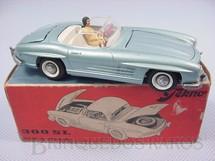 Brinquedos Antigos - Tekno - Mercedes Benz 300 SL conversível completo com motorista Década de 1960