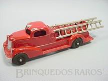 1. Brinquedos antigos - Hubley - Caminhão Escada com 21,00 cm de comprimento Fire Engine Década de 1940