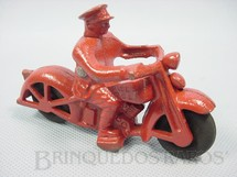 1. Brinquedos antigos - Hubley - Motocicleta de Bombeiro com 11,00 cm de comprimento Década de 1940