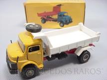 1. Brinquedos antigos - Arpra - Mercedes Benz 1513 basculante amarelo e branco