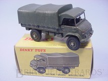 1. Brinquedos antigos - Dinky Toys - Mercedes Benz Unimog Army Covered Wagon Década de 1960