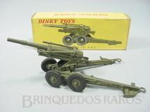 1. Brinquedos antigos - Dinky Toys - Canhão ABS Howitzer Obusier de 155 mm ABS Ano 1959