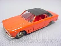 1. Brinquedos antigos - Solido-Brosol - Fiat 2300/S Cabriolet Ghia laranja Fabricada pela Brosol Solido brésilienne Datada 3-1964
