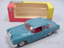 1. Brinquedos antigos - Solido-Brosol - Mercedes Benz 220 SE azul Fabricada pela Brosol Solido brésilienne Datada 3-1963