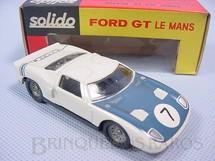 1. Brinquedos antigos - Solido-Brosol - Ford GT Le Mans azul e branco Fabricado pela Brosol Solido brésilienne Datado 3-1966