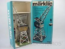 1. Brinquedos antigos - Marklin - Guindaste Ferroviário com dois motores e guincho magnético 32,00 cm de altura Década de 1980