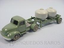 1. Brinquedos antigos - Wiking - Cavalo Mecânico Magirus Deutz com carreta transporte de produtos químicos