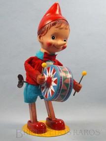 1. Brinquedos antigos - Sem identificação - Pinóquio com Tambor 30,00 cm de altura Década de 1970
