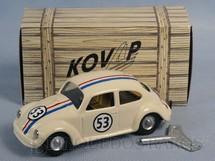 1. Brinquedos antigos - Kovap - Volkswagen Sedan Herbie Se meu Fusca Falasse com 11,00 cm de Comprimento