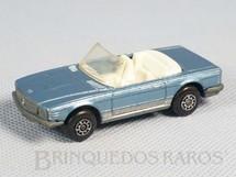 Brinquedos Antigos - Matchbox - Mercedes Benz 350 SL Tourer Superfast azul metálico conversível