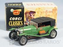 1. Brinquedos antigos - Corgi Toys - Bentley 1927 verde Série Corgi Classics