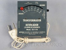 1. Brinquedos antigos - Atma - Transformador com Alarme de Segurança 15/110 Volts Década de 1970