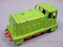 1. Brinquedos antigos - Matchbox - Inbrima - Diesel Shunter Superfast verde Brazilian Matchbox Inbrima 1970