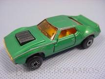 1. Brinquedos antigos - Matchbox - Inbrima - AMX Javelin Superfast verde metálico Brazilian Matchbox Inbrima 1970