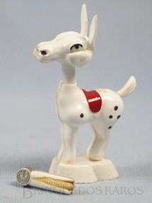 1. Brinquedos antigos - Plásticos Universal SA - Burrinho Zé Pachola com 9,00 cm de altura Move a cabeça e abre a boca acompanhando a espiga de milho Década de 1960
