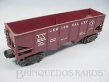 1. Brinquedos antigos - Lionel - Vagão 6456 Lehigh Valley Hopper maroom Ano 1954