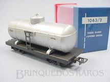 1. Brinquedos antigos - Atma - Vagão Tanque com dois trucks Central do Brasil Corrente Contínua Década de 1970