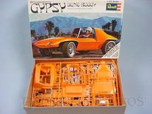 1. Brinquedos antigos - Revell - Kit Bill Cushenberrys Gypsy Dune Buggy completo Falta o manual de montagem Década de 1980