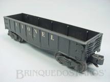 1. Brinquedos antigos - Lionel - Vagão 6012 Gondola Lionel black Ano 1955 a 1956