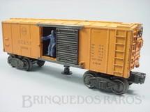 1. Brinquedos antigos - Lionel - Vagão X3464 Santa Fé Box Car figura com movimento Ano 1950 a 1952