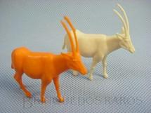 1. Brinquedos antigos - Casablanca e Gulliver - Antílope diversas cores Série Zoológico Década de 1970