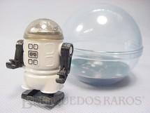 1. Brinquedos antigos - Trol - Robozinho Roby Robot Trol branco com 5,00 cm de altura Década de 1980