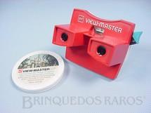 1. Brinquedos antigos - GAF - Visor View Master com 5 discos da Disneylândia Walt Disney Década de 1970