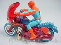 1. Brinquedos antigos - Casablanca e Gulliver - Motocicleta do Homem Aranha Década de 1970