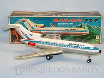 1. Brinquedos antigos - Modern Toys e Masudaya Toys - Boeing 727 com 48,00 cm de envergadura Maior brinquedo fabricado Pintura do protótipo do primeiro vôo Década de 1960