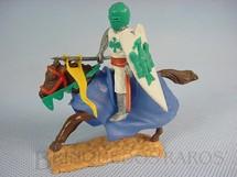 1. Brinquedos antigos - Timpo Toys - Guerreiro Medieval a cavalo com Escudo e Lança Década de 1970