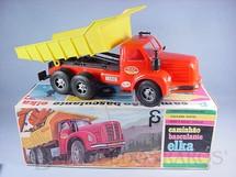 1. Brinquedos antigos - Elka - Caminhão Basculante Elka Scania Vabis L76 com 38,00 cm de comprimento Década de 1970