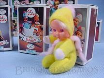 1. Brinquedos antigos - Trol - Boneca com 6,00 cm de altura Coleção Fofolete completa com Folheto Década de 1970
