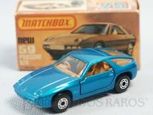 1. Brinquedos antigos - Matchbox - Porsche 928 Superfast azul metálico