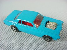 1. Brinquedos antigos - Matchbox - Inbrima - Mercury Cougar Dragster Superfast azul Brazilian Matchbox Inbrima 1970