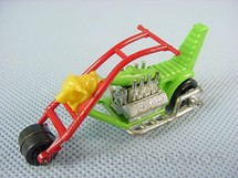 1. Brinquedos antigos - Matchbox - Inbrima - Chopper Chop Suey verde Superfast Brazilian Matchbox Inbrima 1970