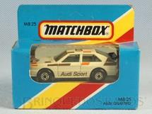 1. Brinquedos antigos - Matchbox - Audi Quattro Superfast Caixa Lacrada