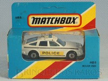 1. Brinquedos antigos - Matchbox - Rover 3500 Police Superfast Caixa Lacrada