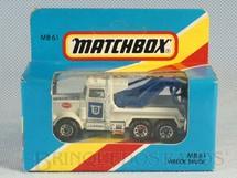1. Brinquedos antigos - Matchbox - Peterbilt Police Wrecker Superfast Caixa Lacrada