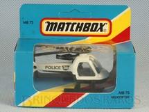 1. Brinquedos antigos - Matchbox - Police Helicopter Superfast Caixa Lacrada
