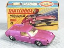 1. Brinquedos antigos - Matchbox - Lotus Europa Superfast Transitional Weels pink