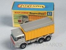 1. Brinquedos antigos - Matchbox - DAF Tipper Container Truck Superfast Transitional Weels