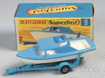 1. Brinquedos antigos - Matchbox - Boat and Trailer Superfast Transitional Weels