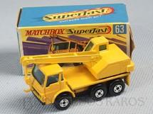 1. Brinquedos antigos - Matchbox - Dodge Crane Truck Superfast